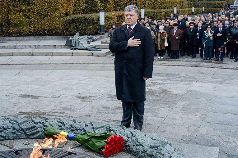 День освобождения Украины от фашистов. Возложение цветов в Киеве