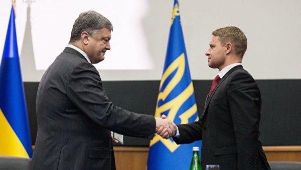 Президент Петр Порошенко представил главу Киевской областной государственной администрации (ОГА) Александра Горгана