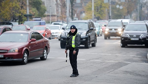 Патрульный полицейский. Архивное фото