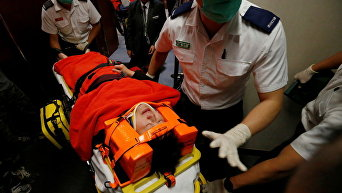 Потасовка в Законодательном совете в Гонконге