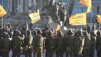 Протест вкладчиков лопнувшего банка Михайловский и правоохранители