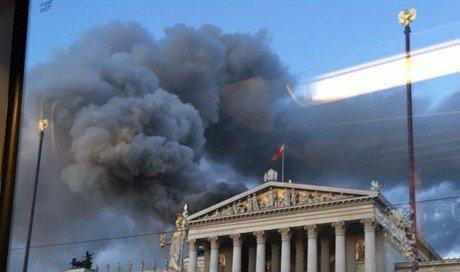 Пожар в парламенте Вены