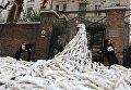 Акция протеста под зданием посольства РФ в Лондоне