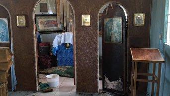 В Мариуполе подожгли церковь УПЦ КП