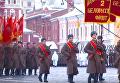 Марш в честь 75-й годовщины военного парада 1941 года в Москве. Видео