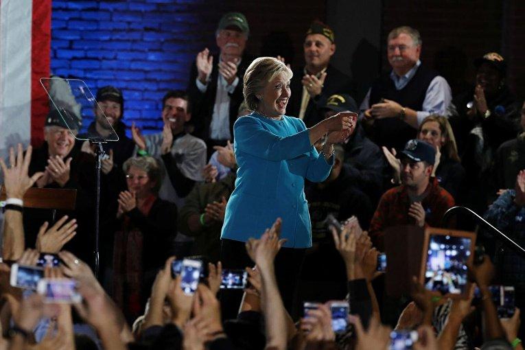 Хиллари Клинтон в Манчестере