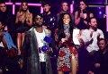 Британский рэпер Тайни Темпа и канадская модель Винни Харлоу на вручении MTV Europe Music Awards
