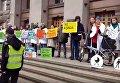 Протест под зданием КГГА против транспортного коллапса