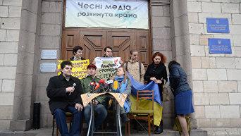 Митинг в поддержку закона о квотах на русскоязычную музыку