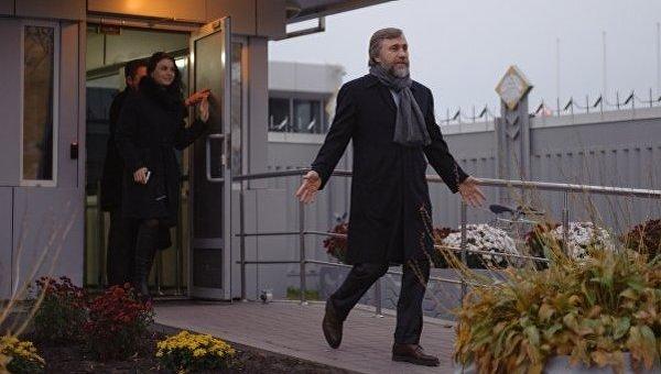 Вадим Новинский по возвращении в Украину 8 ноября 2016 года