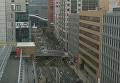 В Японии под землю провалилась дорога. Видео
