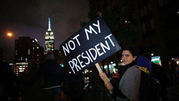 В Нью-Йорке протестуют против избрания Трампа президентом. Архивное фото
