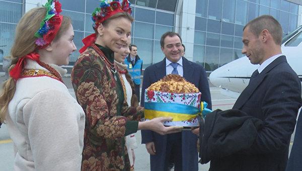 В государство Украину приехал президент UEFA Александр Чеферин