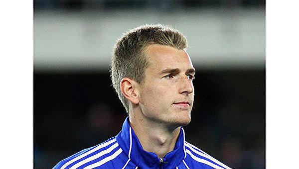 Голкипер сборной Финляндии Лукаш Градецки по футболу