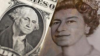 Доллар и британский фунт стерлингов