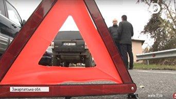 Водители блокируют границу на Закарпатье