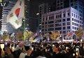 Антиправительственный митинг в Сеуле