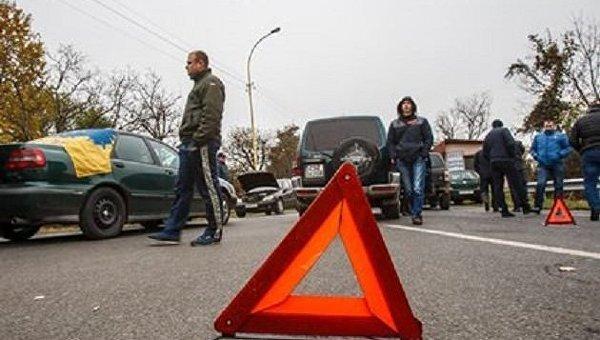 Блокирование дорог в Закарпатье