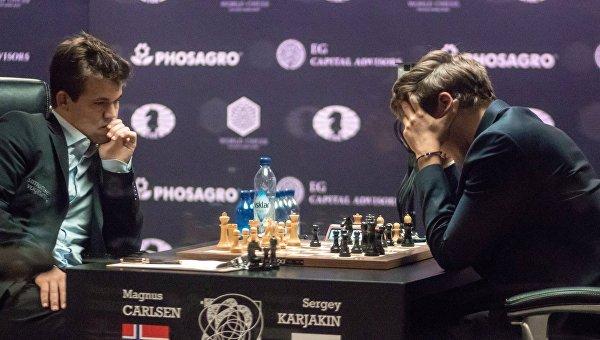 Шахматы. Матч за звание чемпиона мира 2016. М.Карлсен vs С.Карякин
