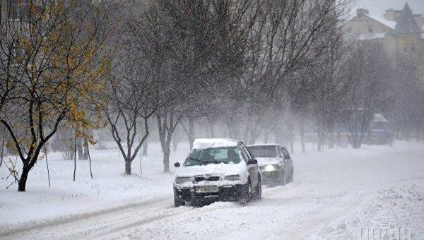 Снегопад во Львове. Архивное фото