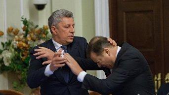 Драка Юрия Бойко и Олега Ляшко на согласительном совете в Верховной Раде