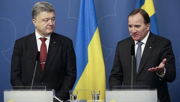 Петр Порошенко и премьер-министр Швеции Стефан Левен