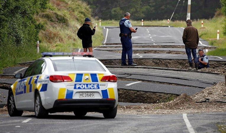 Новая Зеландия начинает эвакуацию туристов изпострадавшего отземлетрясения города