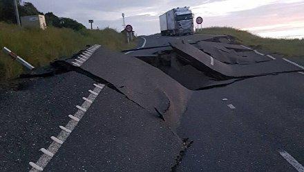 Последствия землетрясения и прорыва дамбы в Новой Зеландии