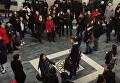 Флешмоб в Запорожье. Песня из Весны на Заречной улице в исполнении студентов. Видео