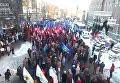 Массовый митинг под Нацбанком с высоты птичьего полета. Видео