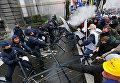 Разгон митинга военных в Брюсселе водометами и газом
