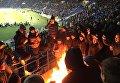 Сжигание сербского флага на стадионе в Харькове