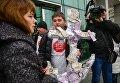 Акция протеста под Министерством инфраструктуры с требованием увольнения Владимира Омеляна