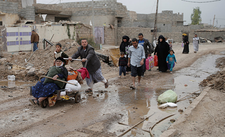 Беженцы иракского Мосула.