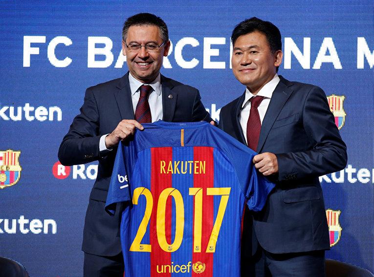 Японская интернет-ритейл компания Rakuten стала новым генеральным спонсором Барселоны.
