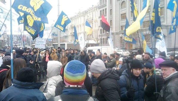 Протест под КСУ во время рассмотрения языкового закона