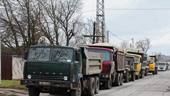 Акция протеста водителей грузовиков в Приднестровье