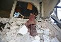 Последствия обстрелов в окрестностях Дамаска. Архивное фото