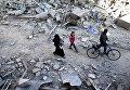 Последствия удара по сирийской Думе близ Дамаска
