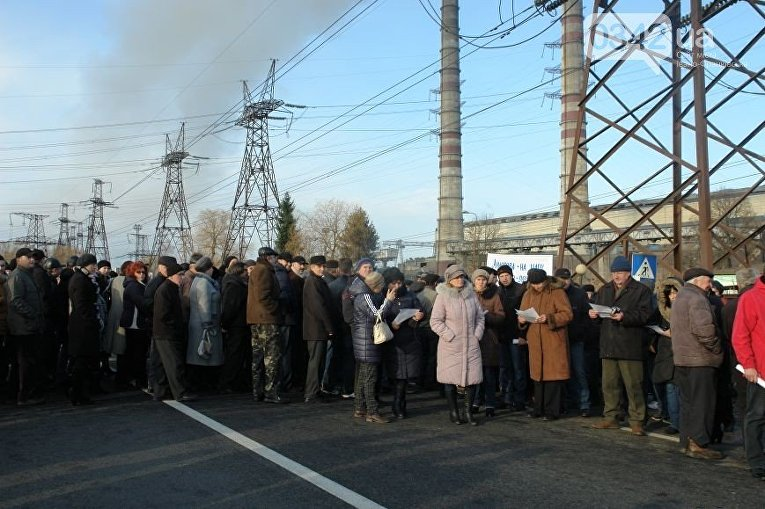 Митингующие БуТЕС на час перекрыли львовское шоссе
