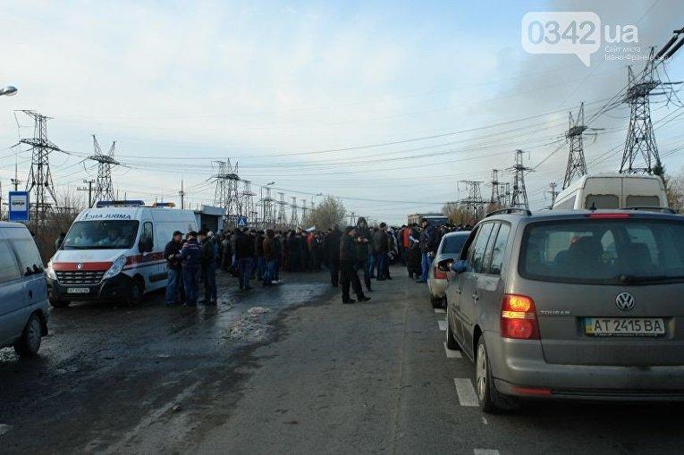 Митингующие с БуТЭС на час перекрыли львовское шоссе