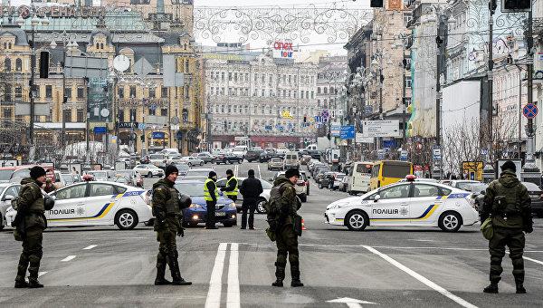 Центр Киева под усиленной охраной правоохранителей