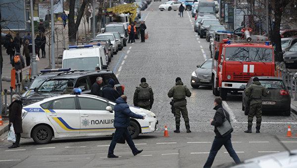 Центр Киева 21 ноября 2016 года под усиленной охраной правоохранителей