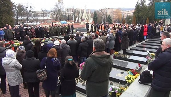 Годовщина Евромайдана во Львове