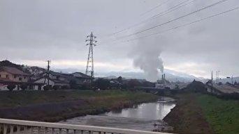 Цунами после землетрясения в Японии. Видео