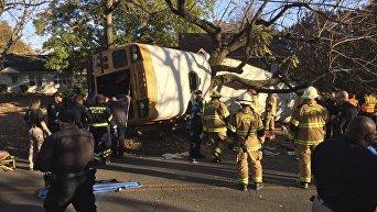 Крушение автобуса в США