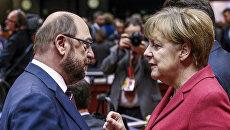 Мартин Шульц и Ангела Меркель. Архивное фото