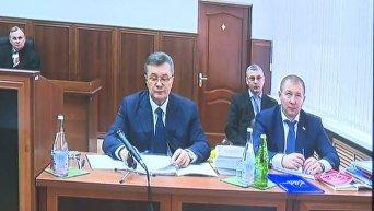 Виктор Янукович на видеодопросе