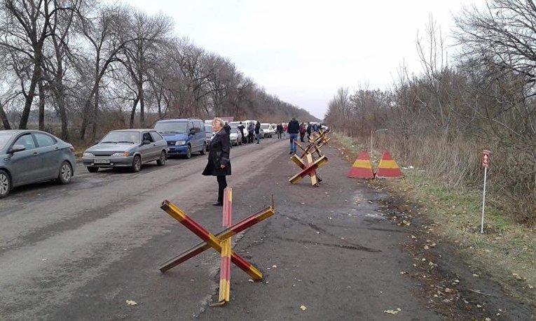КПВВ Марьинка в Донецкой области