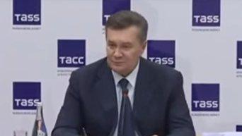 Резкий ответ Януковича журналистке во время пресс-конференции. Видео
